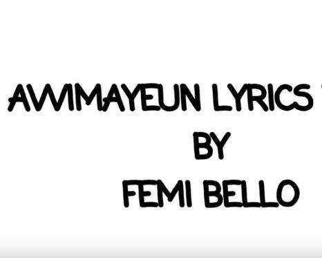 Awimayeun - Femi Bello